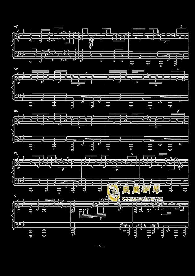 天空のグリニッジ钢琴谱 第5页