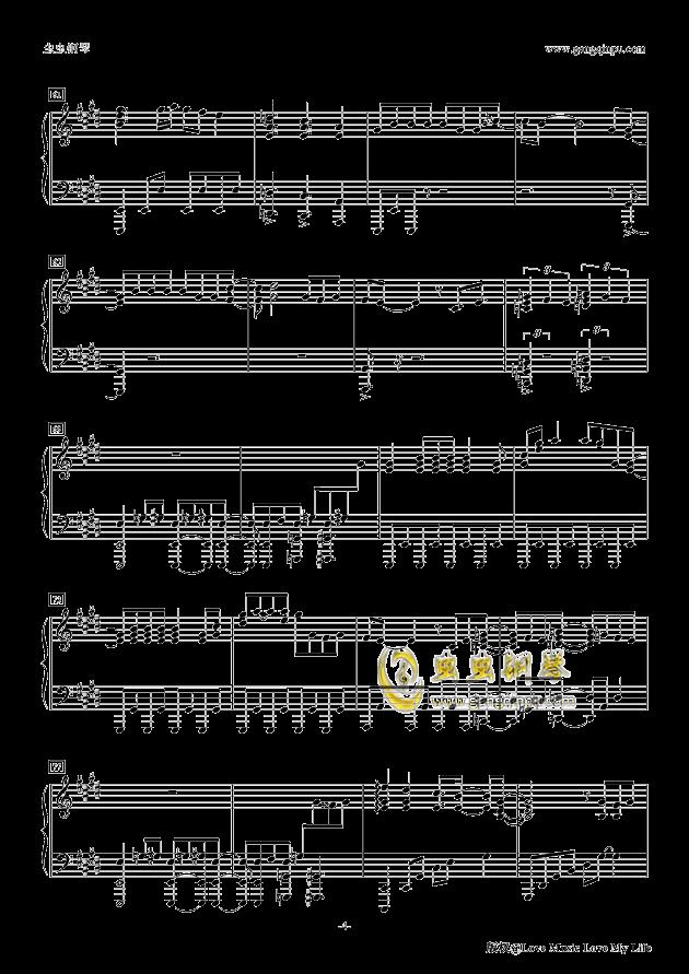 Butter-Fly钢琴谱 第4页