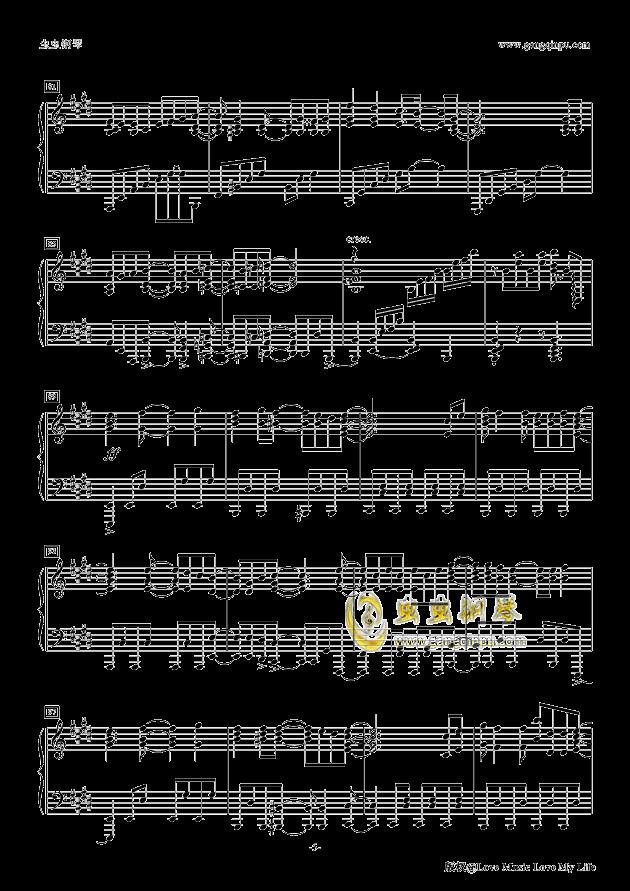Butter-Fly钢琴谱 第5页