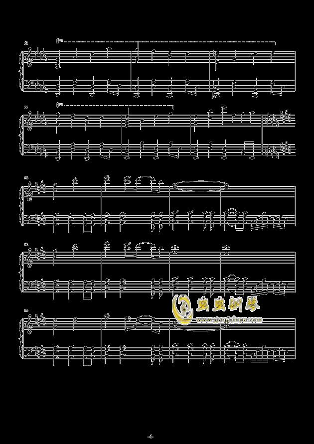故�l之星倒映之海钢琴谱 第4页