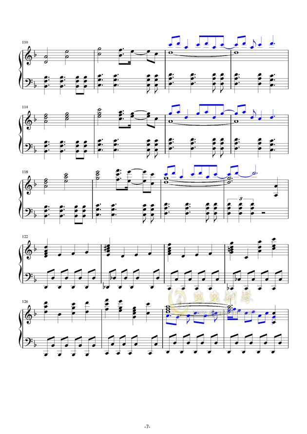 故�l之星倒映之海钢琴谱 第7页