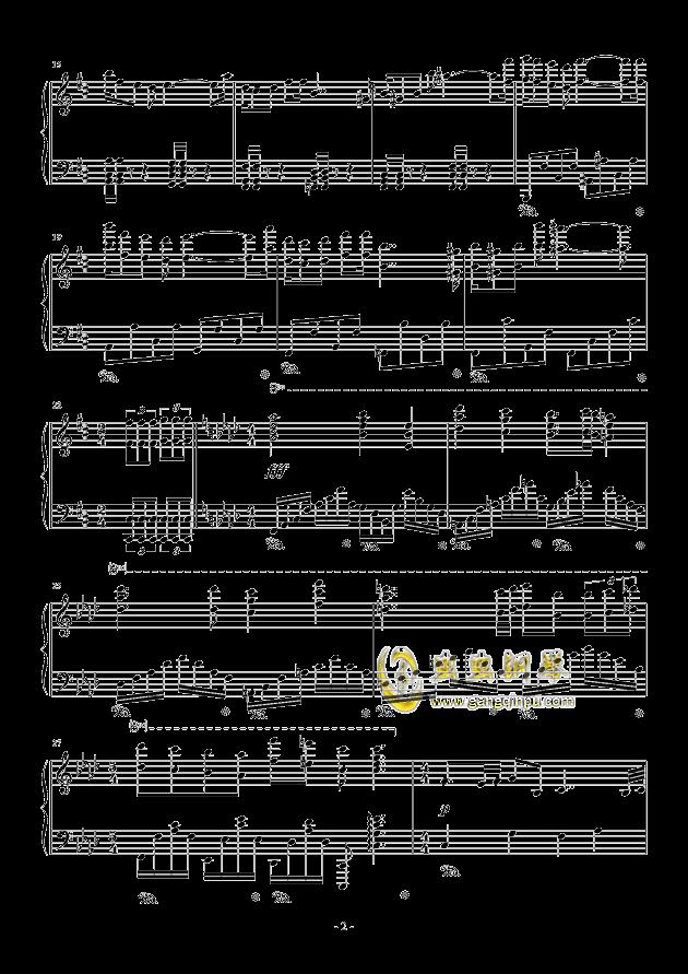 甲铁城的卡巴内利钢琴谱 第2页