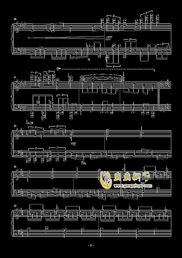 甲铁城的卡巴内利钢琴谱 第3页