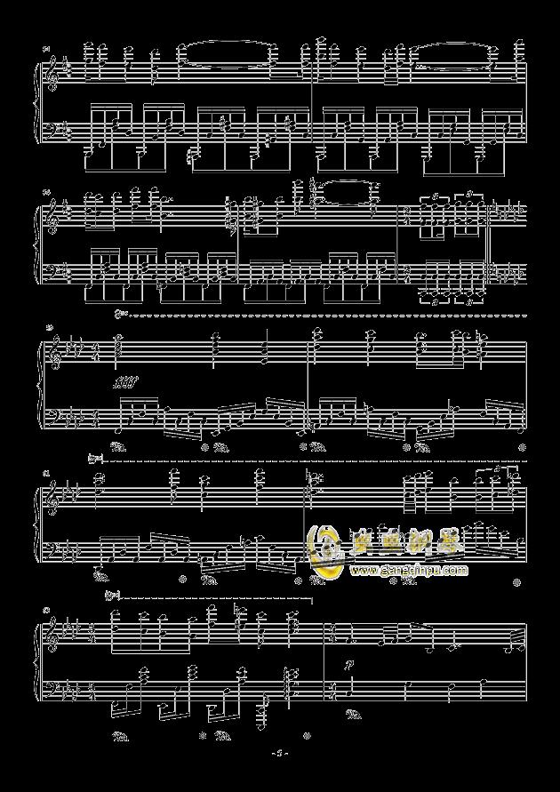 甲铁城的卡巴内利钢琴谱 第5页