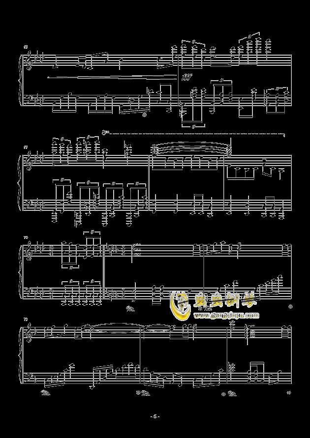 甲铁城的卡巴内利钢琴谱 第6页