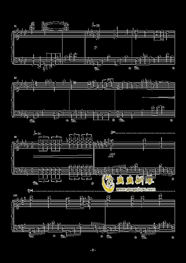 甲铁城的卡巴内利钢琴谱 第8页
