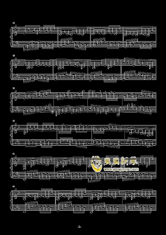 Etude in D Minor钢琴谱 第2页
