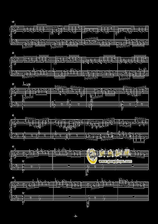 Etude in D Minor钢琴谱 第3页