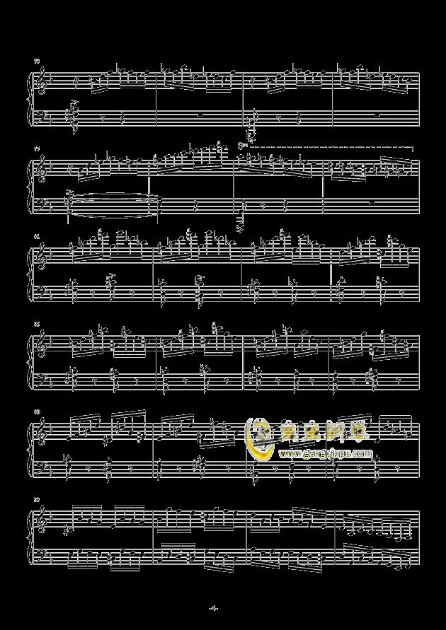 Etude in D Minor钢琴谱 第4页