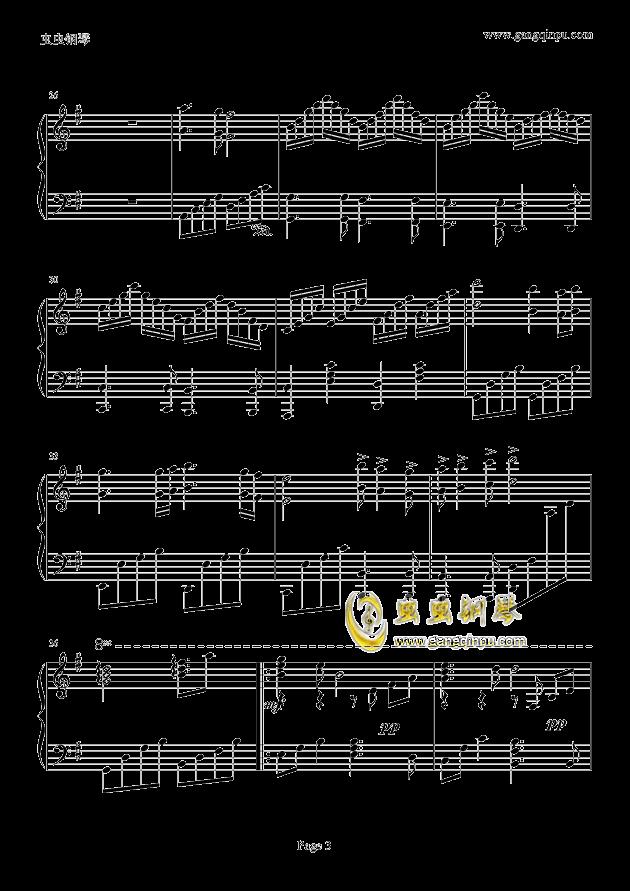 似水流年钢琴谱 第3页