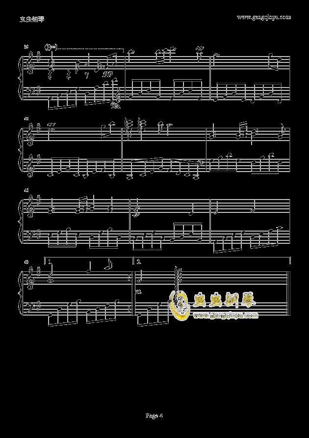 似水流年钢琴谱 第4页