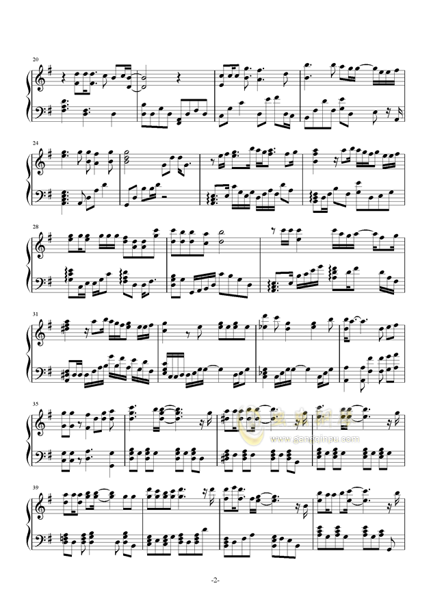 Orange钢琴谱 第2页