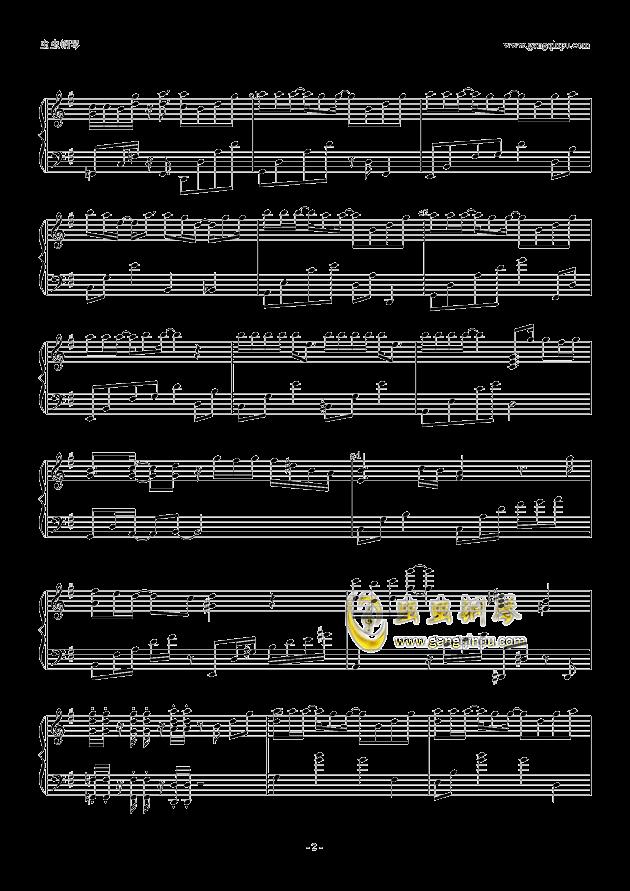 耿耿于怀钢琴谱 第2页