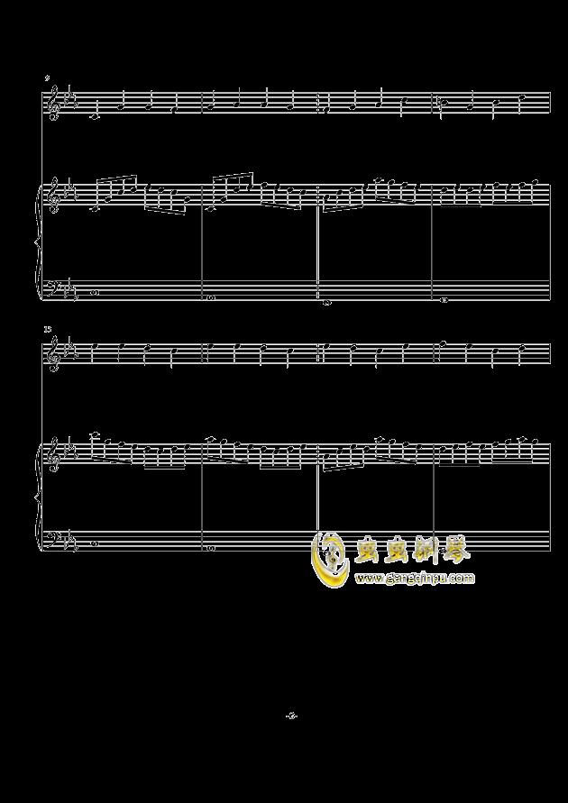 秋天の风钢琴谱 第2页