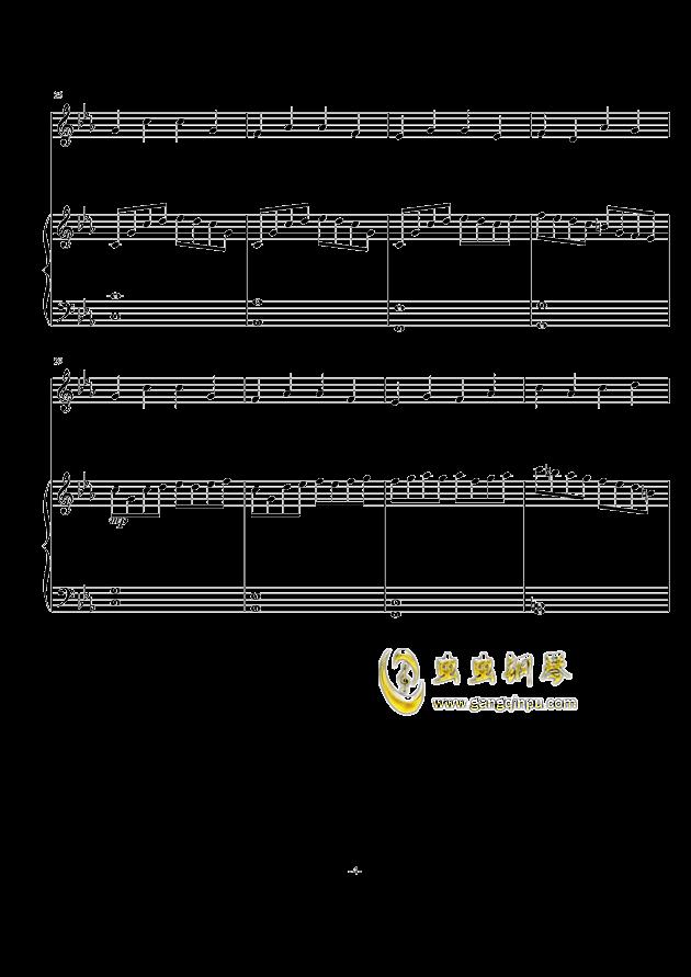 秋天の风钢琴谱 第4页