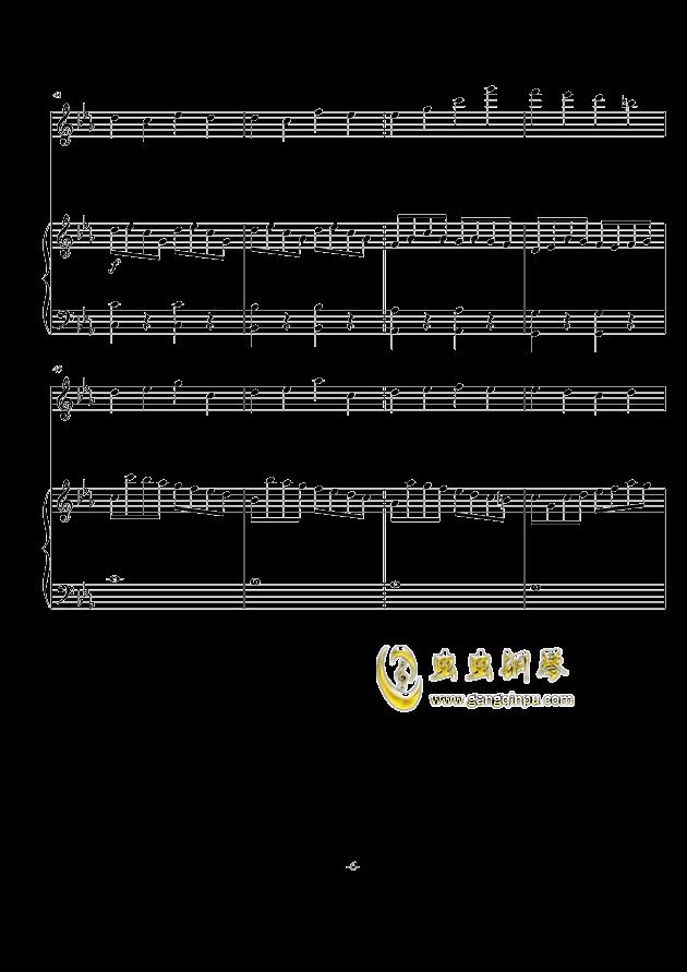 秋天の风钢琴谱 第6页