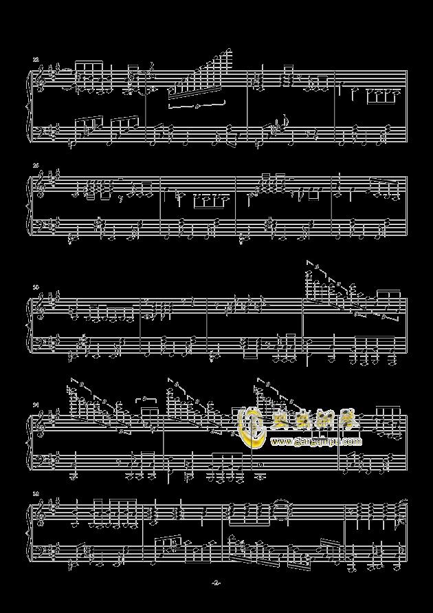 禁绝边境线-超时空要塞Δ OST 完整版钢琴钢琴谱 第2页