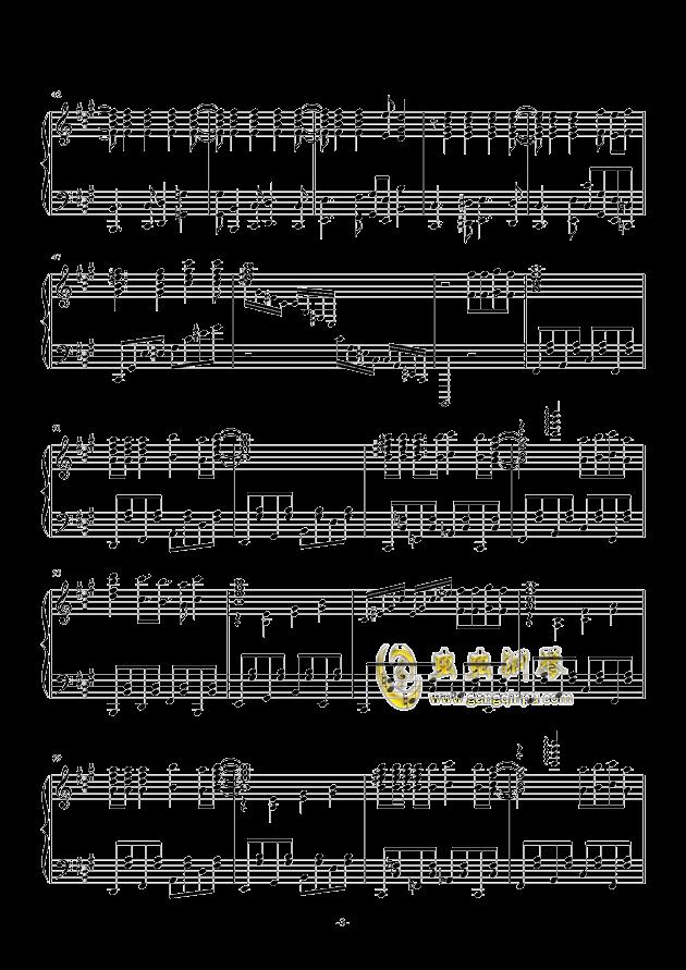 禁绝边境线-超时空要塞Δ OST 完整版钢琴钢琴谱 第3页