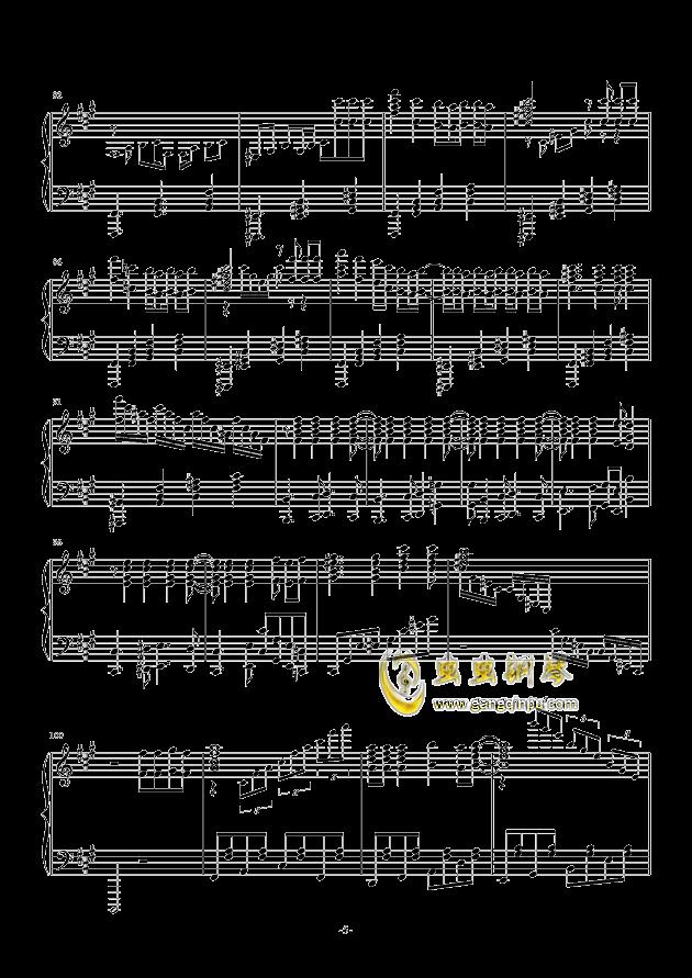 禁绝边境线-超时空要塞Δ OST 完整版钢琴钢琴谱 第5页
