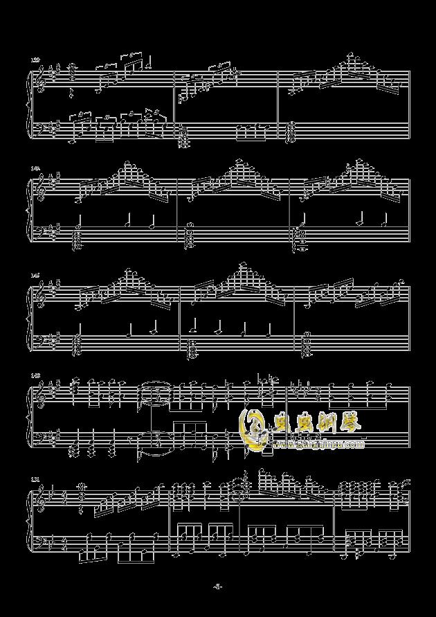 禁绝边境线-超时空要塞Δ OST 完整版钢琴钢琴谱 第8页