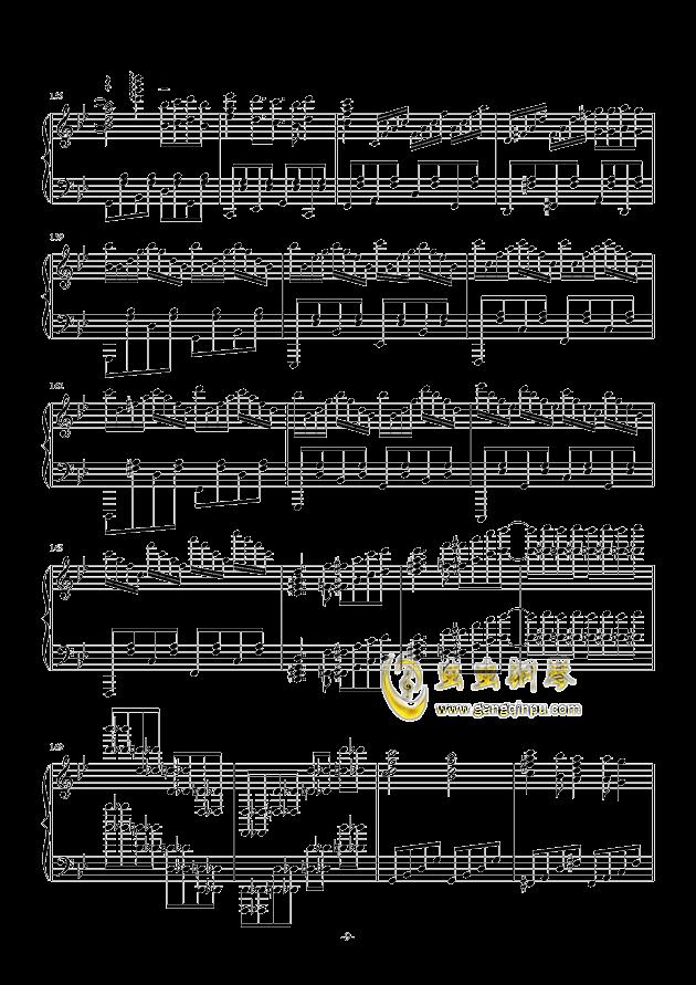 禁绝边境线-超时空要塞Δ OST 完整版钢琴钢琴谱 第9页