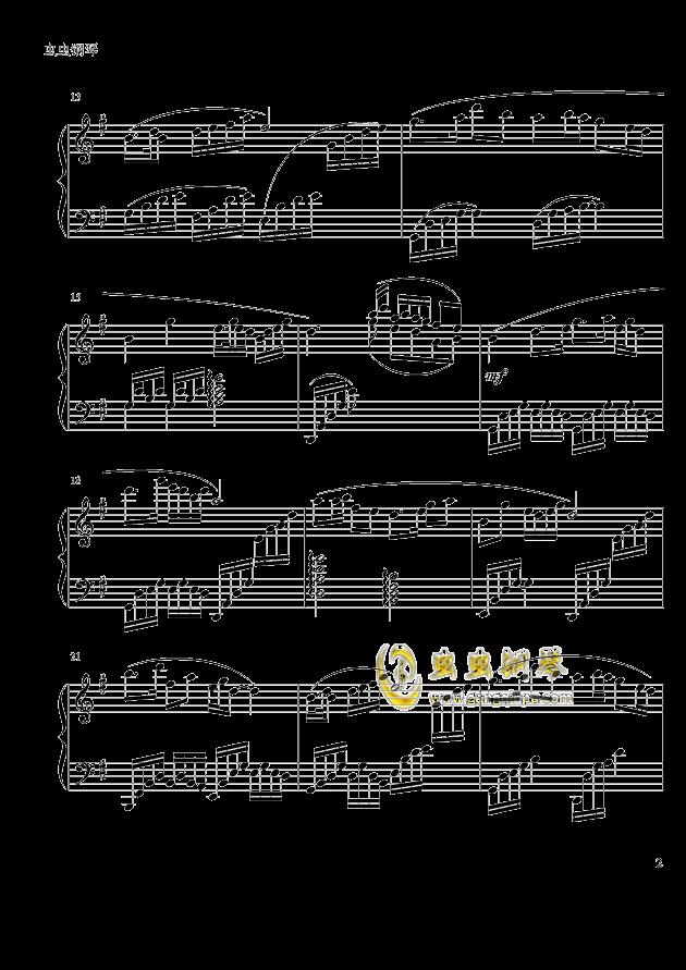 梁祝 钢琴谱 第2页