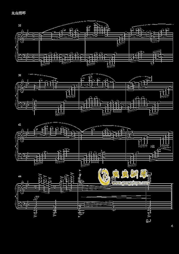 梁祝 钢琴谱 第4页