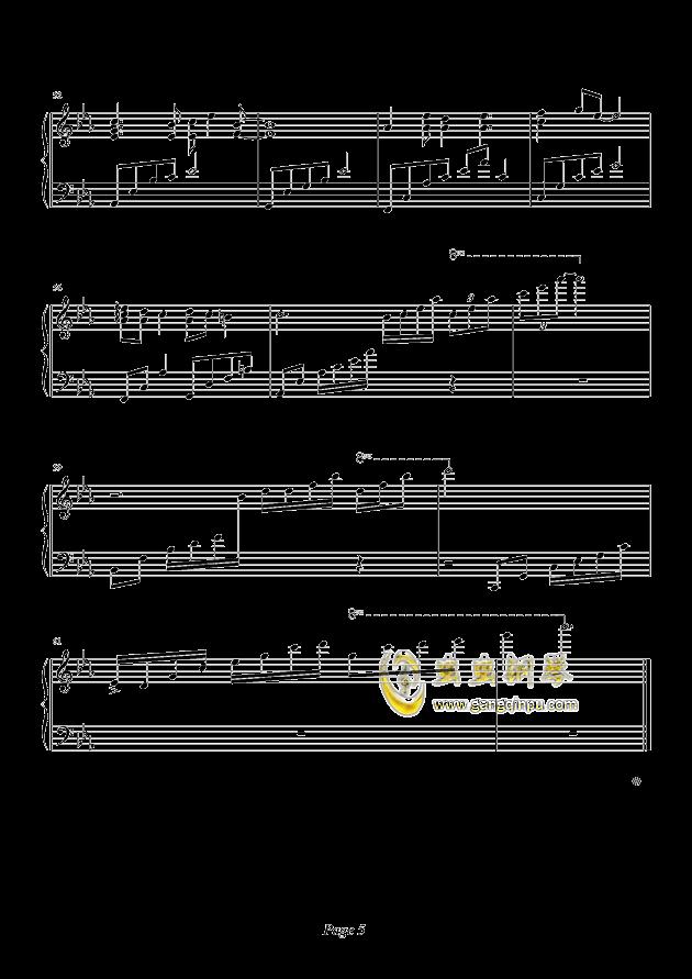 天空之城钢琴谱 第5页