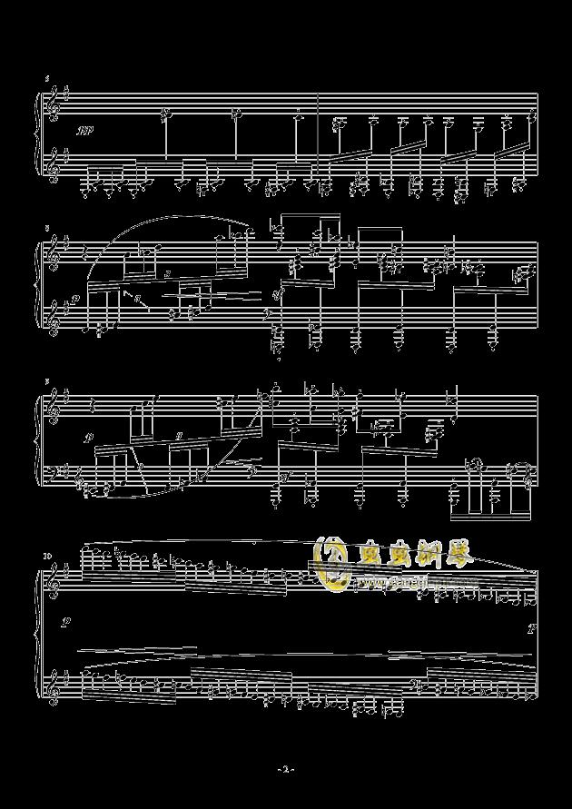 Capriccio in G Major钢琴谱 第2页