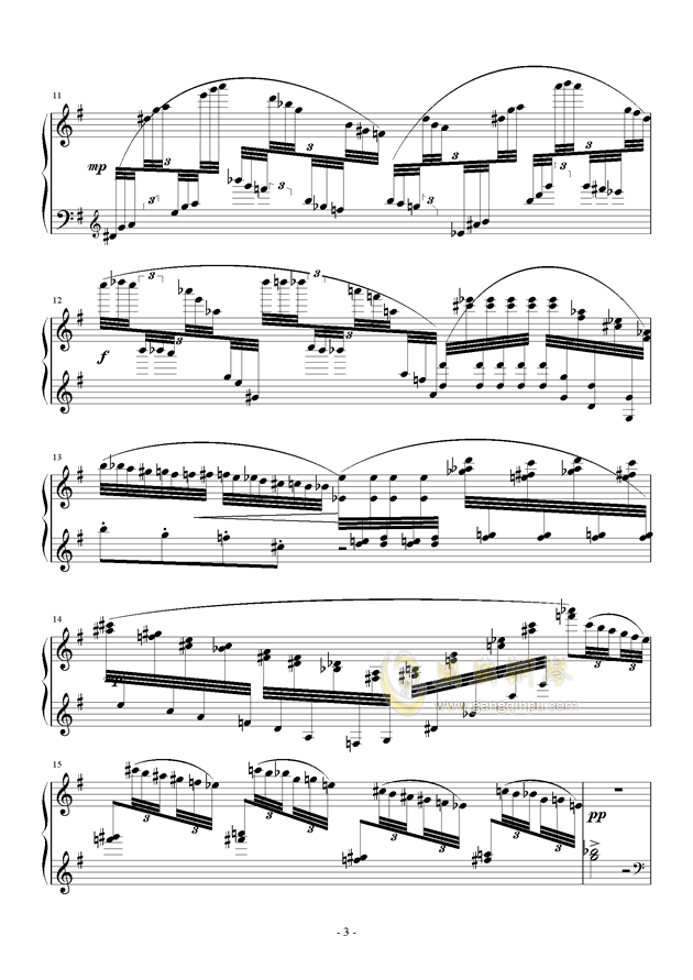 Capriccio in G Major钢琴谱 第3页