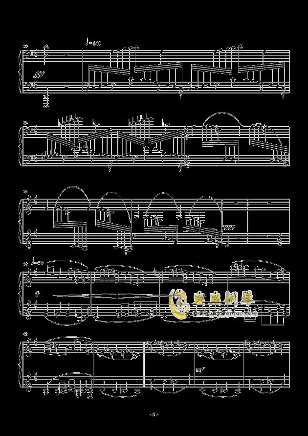 Capriccio in G Major钢琴谱 第5页