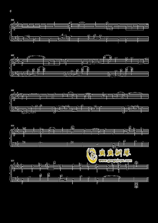 你还要我怎样钢琴谱 第6页