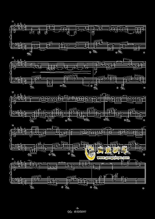 认真的雪钢琴谱 第2页