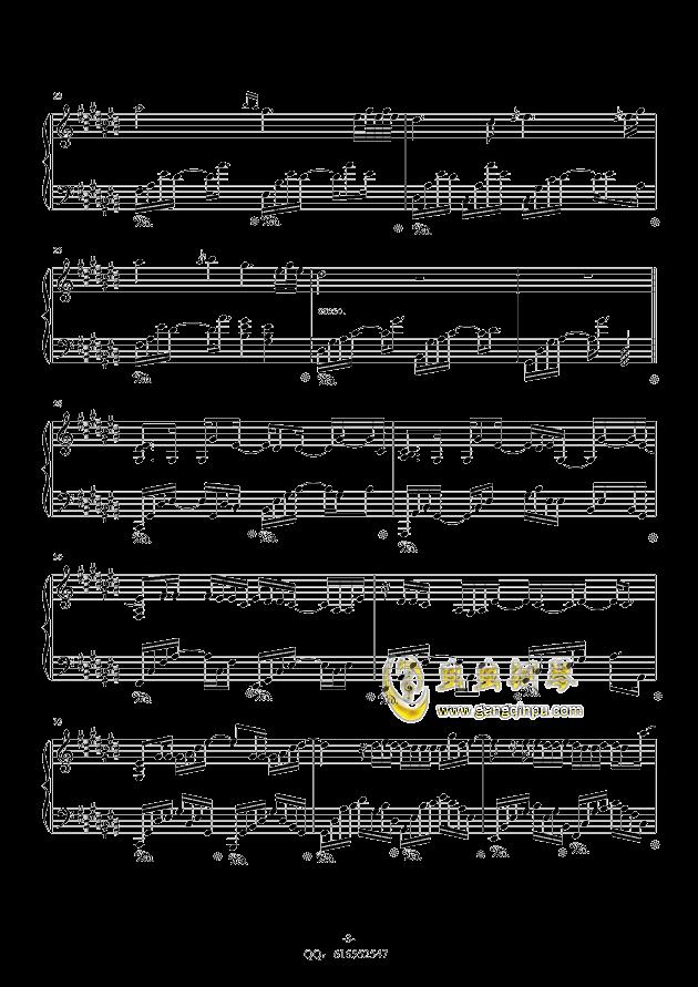 认真的雪钢琴谱 第3页