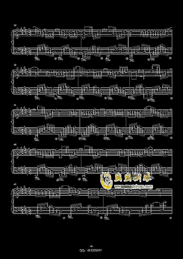 认真的雪钢琴谱 第4页