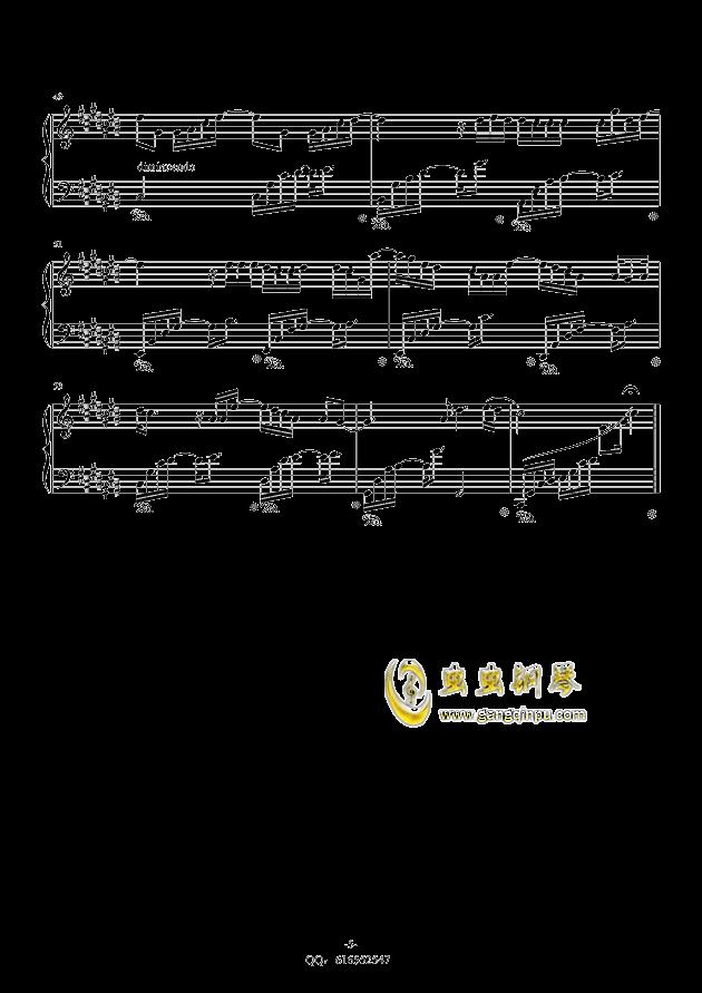 认真的雪钢琴谱 第5页