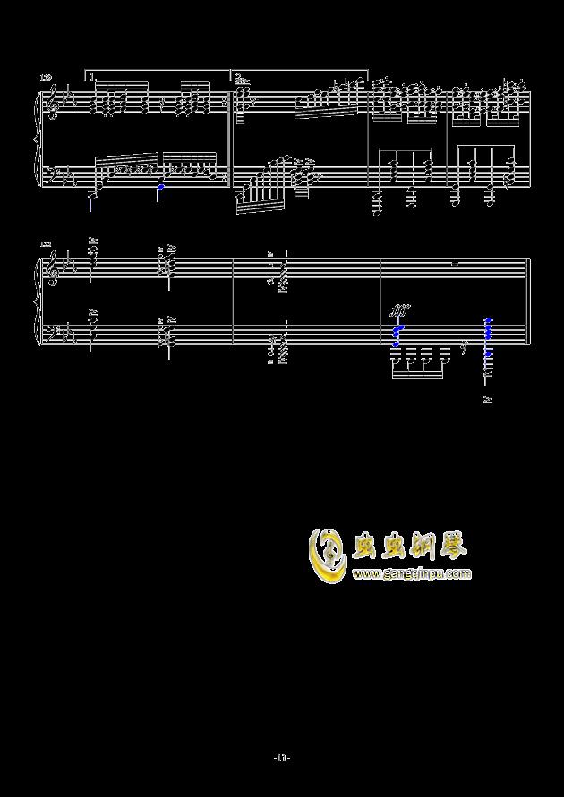 秋霜奏鸣曲钢琴谱 第11页