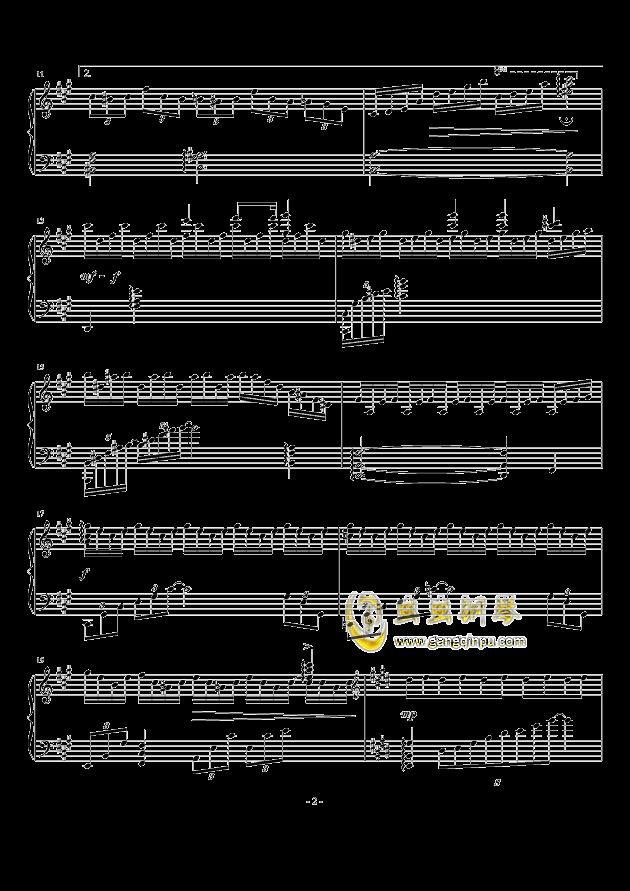 无限遐想钢琴谱 第2页