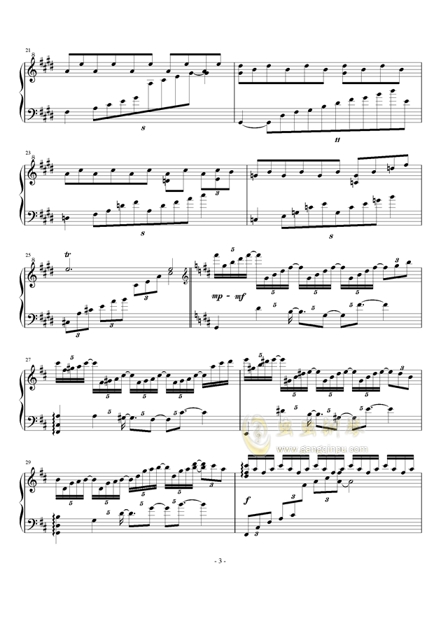 无限遐想钢琴谱 第3页