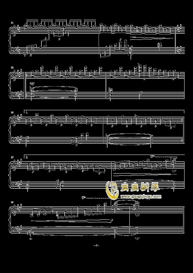 无限遐想钢琴谱 第4页