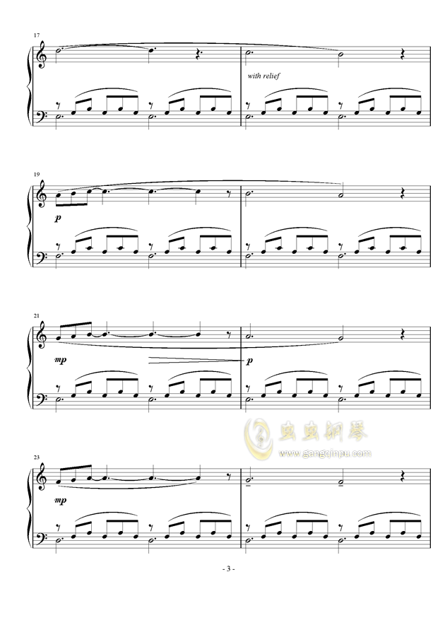 小冥想曲钢琴谱 第3页
