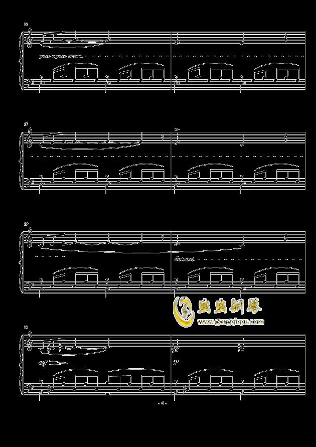 小冥想曲钢琴谱 第4页