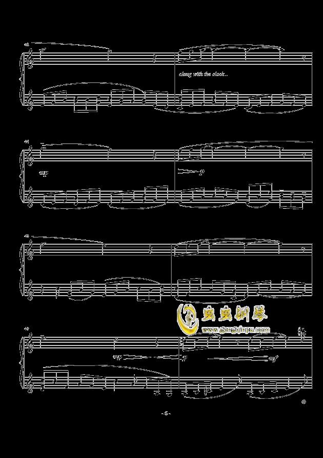 小冥想曲钢琴谱 第6页