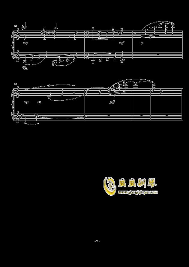 小冥想曲钢琴谱 第7页