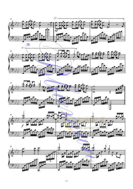 红蝴蝶钢琴谱 第2页