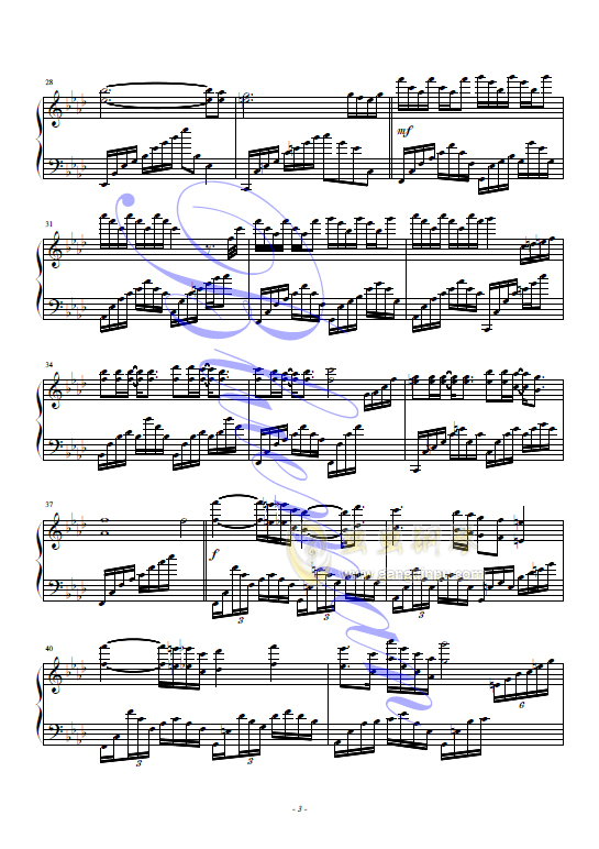 红蝴蝶钢琴谱 第3页