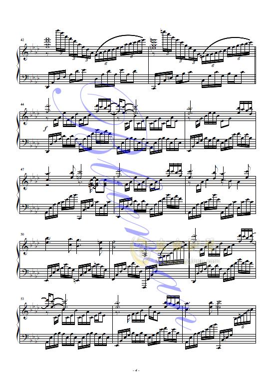红蝴蝶钢琴谱 第4页
