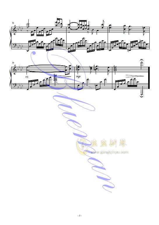 红蝴蝶钢琴谱 第5页