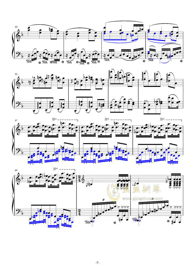 秋霜奏鸣曲钢琴谱 第5页