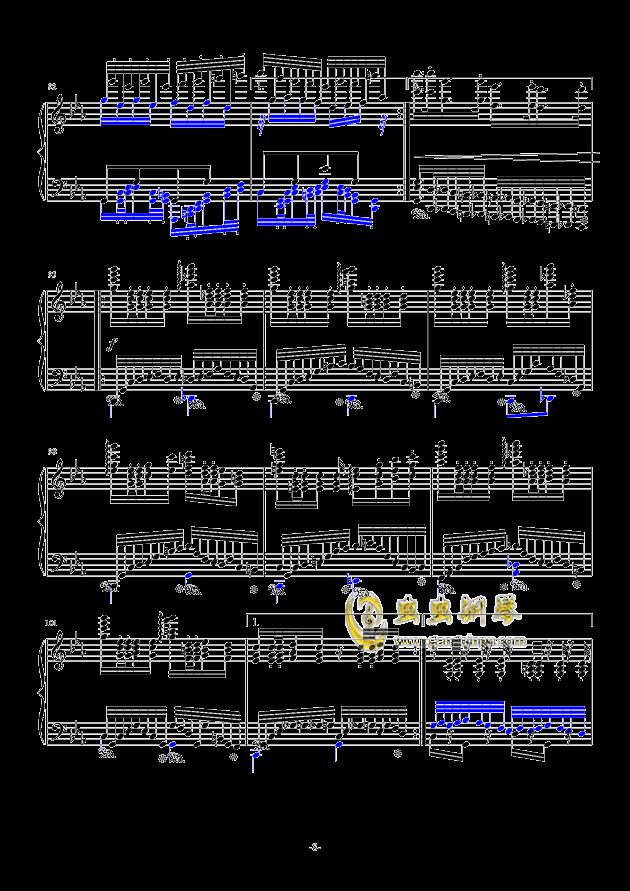 秋霜奏鸣曲钢琴谱 第8页
